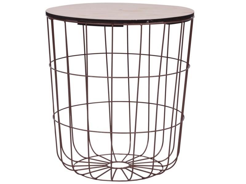 esthetique tables basses et tables d appoint reference ankara table basse cuivre o 39 5 cm mdf