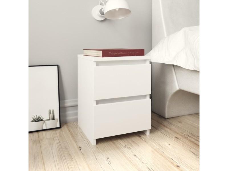 admirable tables ligne santiago table de chevet blanc 30 x 30 x 40 cm agglomere