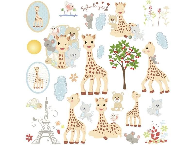 stickers sophie la girafe multi repositionnable