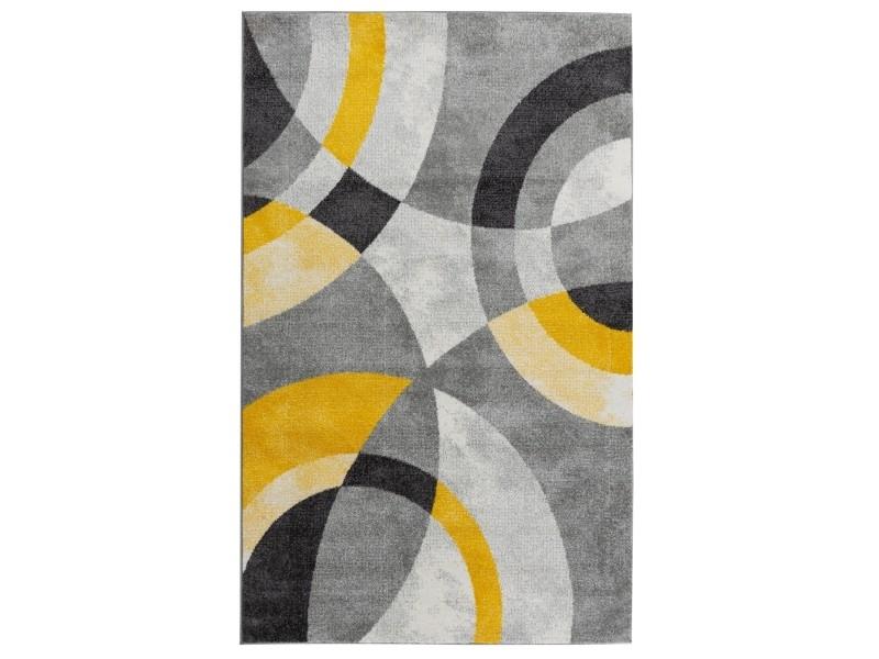 anta tapis de salon contemporain 80 x 150 cm jaune