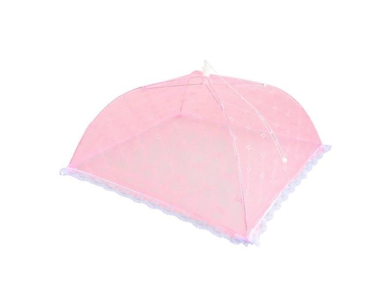 cloche parapluie alimentaire pliante fruit rose