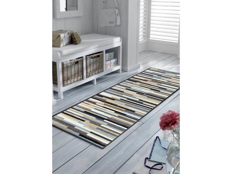 tapis pour couloir mikatripes kt naturel 75 x 190 cm tapis de salon moderne design par unamourdetapis