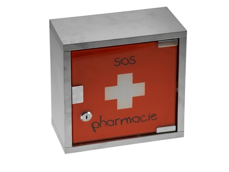 armoire pharmacie sos pharmacie rouge