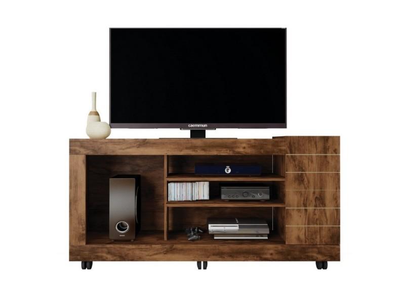 meuble tv 55 pouces maxi 1 porte noyer