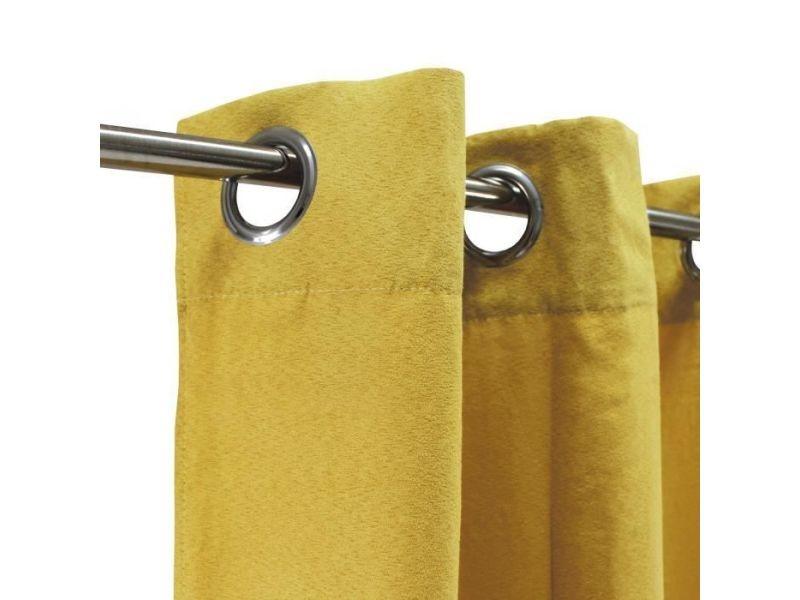 https www conforama fr decoration textile linge de maison rideau voilage store rideau double rideaux rideau sueden 100 polyester jaune 140x250 cm p l75161960