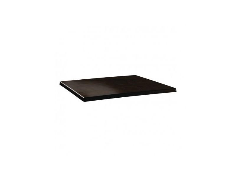 plateau de table rectangulaire 120x 80cm wenge bois