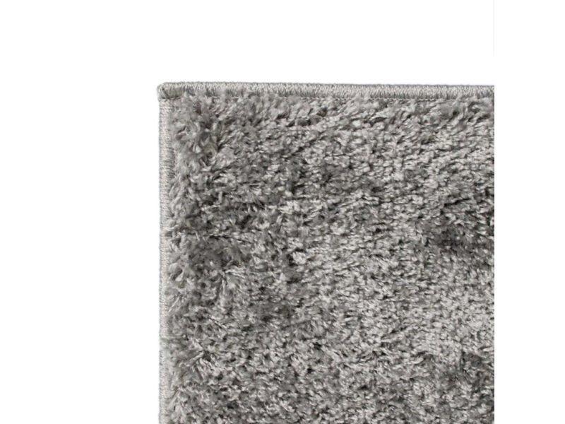 vidaxl tapis a poils longs 140 x 200 cm gris