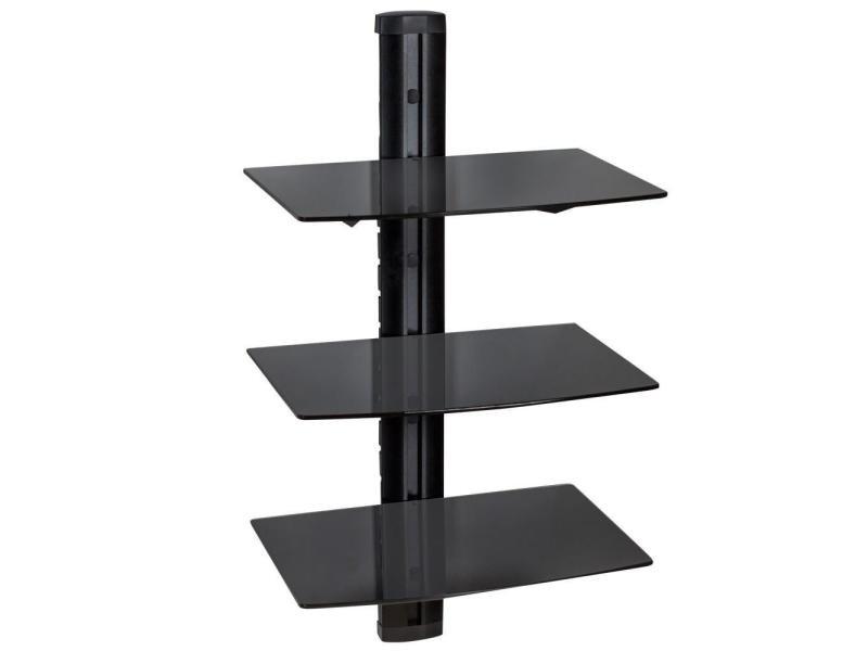 meuble tv verres noir