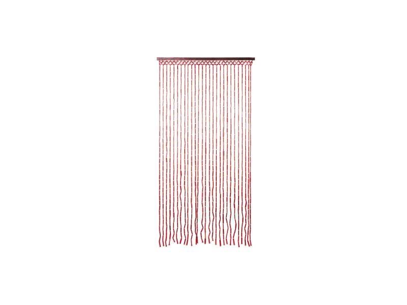 rideau bambou rouge