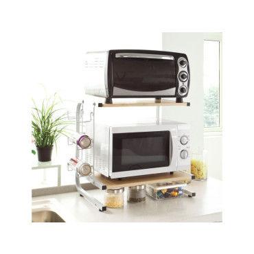 etageres micro ondes de cuisine mini etagere four micro ondes meuble rangement cuisine de service frg092 n sobuy o29197141