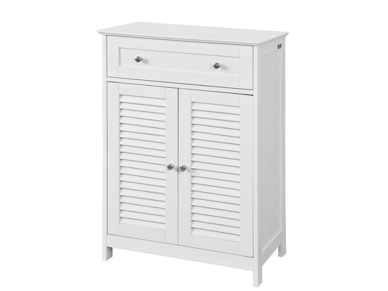 meuble bas de salle de bain armoire toilette buffet commode blanc frg238 w sobuy