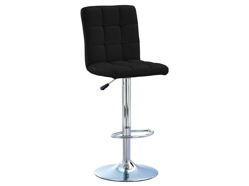 tabouret de bar pivotant chaise haute de bar ralph noir