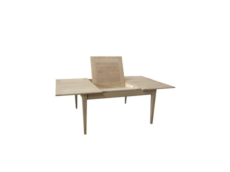 table carree extensible en bois de chene 140 cm