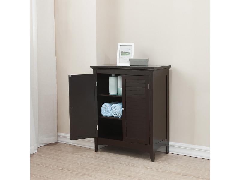 meuble bas de rangement commode salle de bain ethan bois fonce elegant home fashions elg 595
