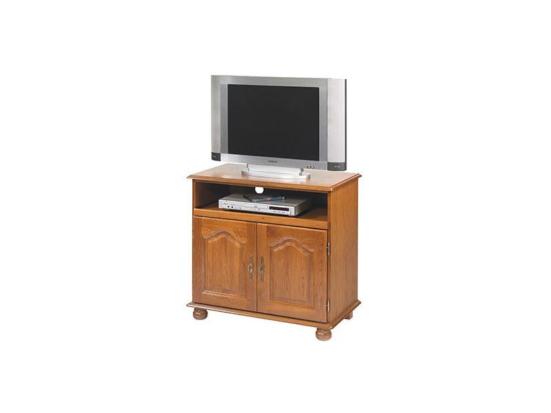 meuble tv chene plateau pivotant et coulissant