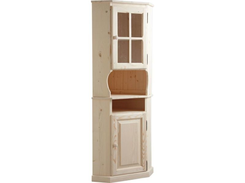 meuble d angle en bois brut