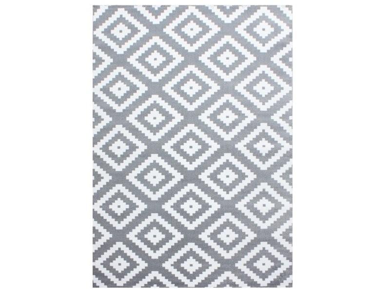 scandinave tapis de salon moderne 200 x 290 cm gris blanc