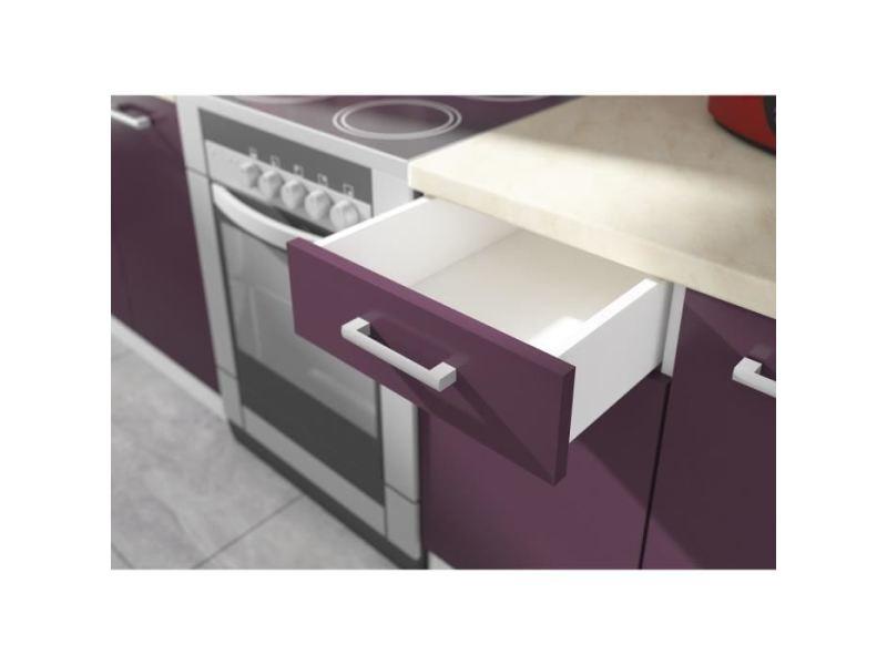 elements separes haut ultra meuble haut de cuisine l 40 cm aubergine mat