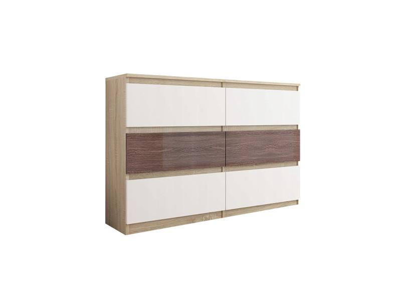 trogir s3 commode contemporaine chambre salon bureau 120x30x76 6 tiroirs meuble de rangement scandinave dressing moderne