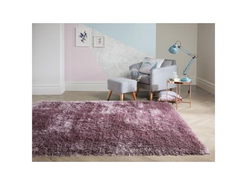 tapis shaggy doux et epais en polyester pearl mauve 160 x 230 cm