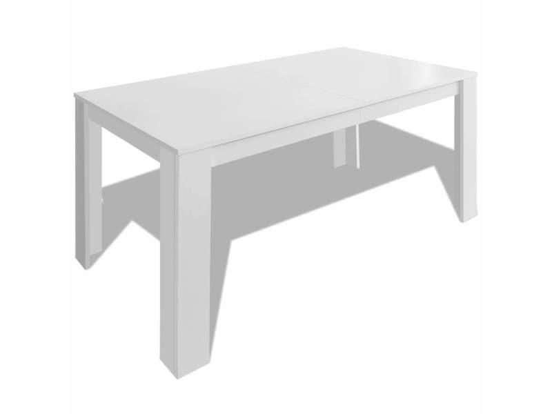 vidaxl table de salle a manger 140 x 80 x 75 cm blanc
