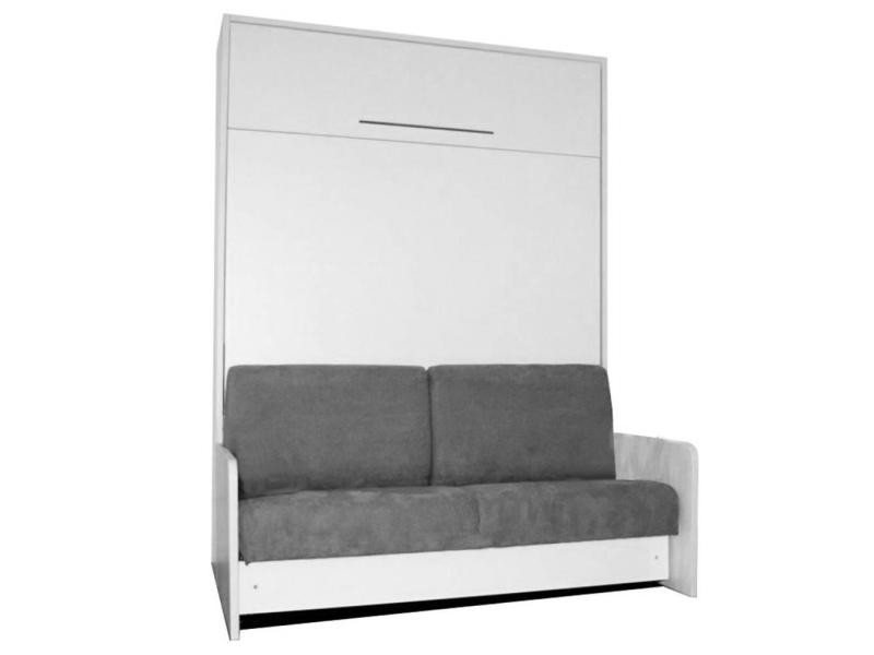 space sofa fast armoire lit escamotable 140cm avec canape integre et montage a domicile inclus 20100864166 conforama