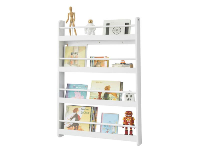bibliotheque murale etagere de rangement etagere a livres enfants etagere murale avec 4 etages kmb08 w sobuy