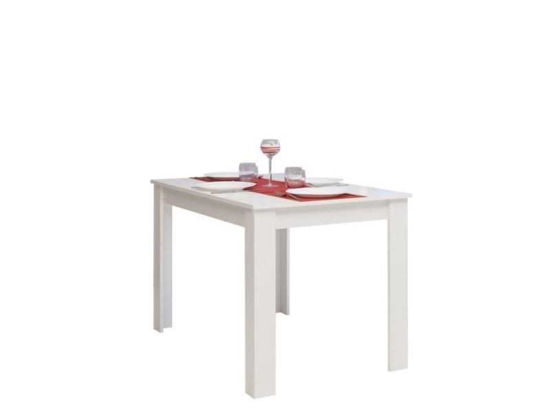 table 110 cm blanc