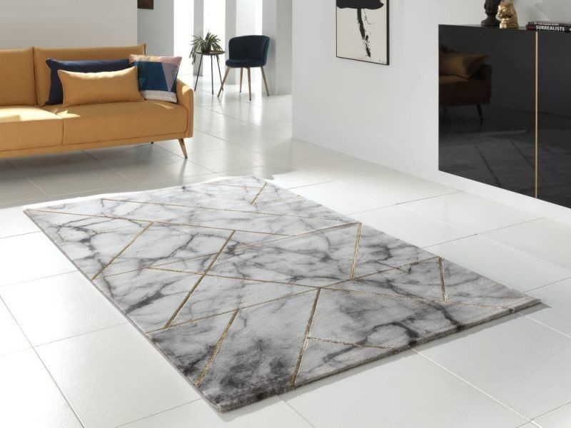 tapis moderne chic marmoro 80x150cm