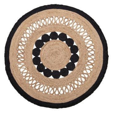 https www conforama fr decoration textile tapis tapis salon et chambre 22tapis rond jute noir et beige diam120cm 22 p n59937426