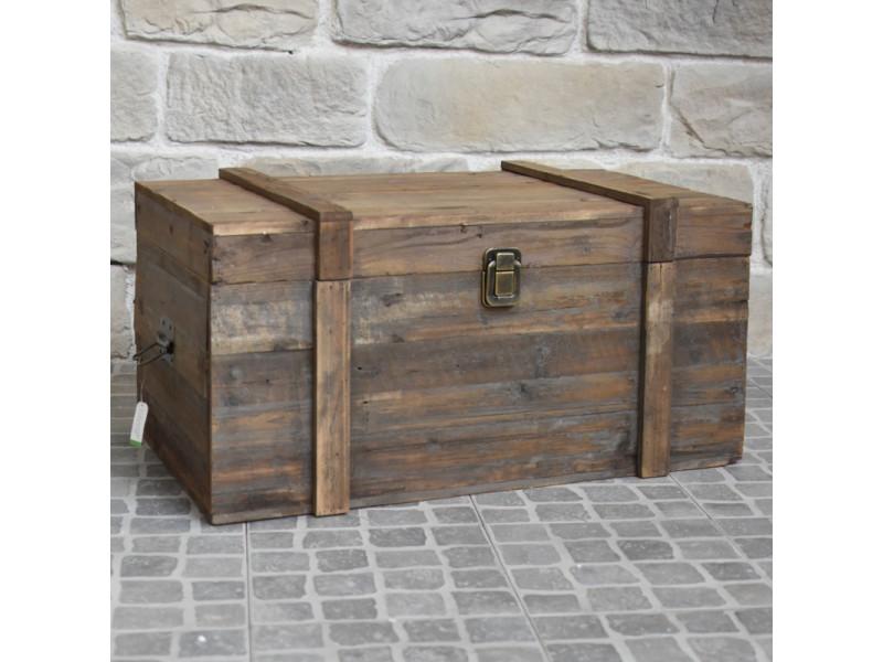 grand coffre de rangement bouteille table basse bois 90 cm x 56 cm x 48 cm