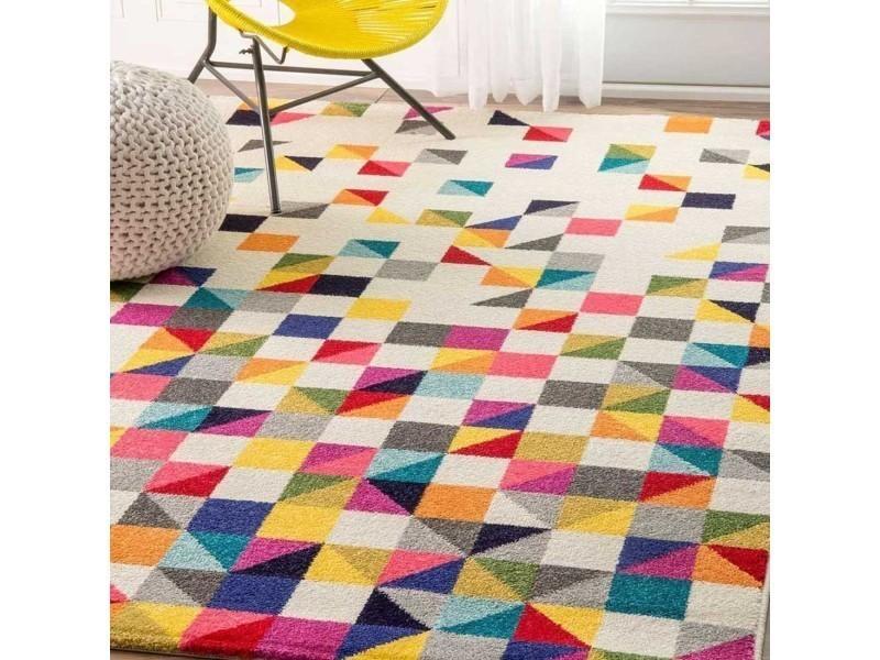 tapis chambre detru boutik multicolore 60 x 110 cm tapis de salon moderne design par unamourdetapis