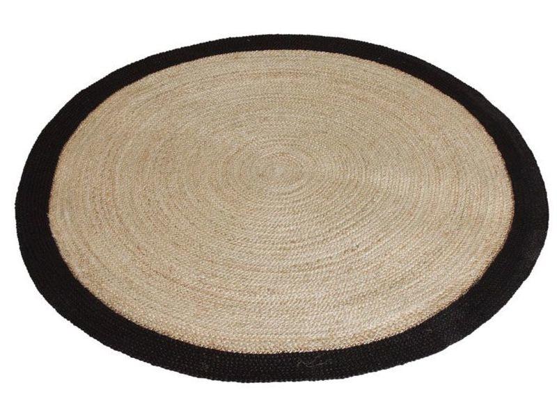 https www conforama fr decoration textile tapis tapis salon et chambre tapis rond jute naturelle avec bords noirs diametre 120cm p b98191110