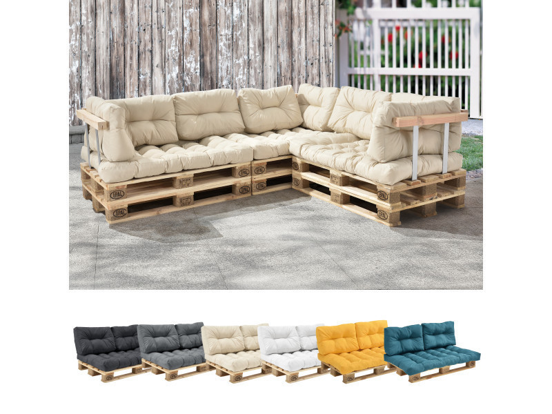 en casa 1x coussin de siege pour canape d euro palette creme coussins de palettes in outdoor rembourrage meuble