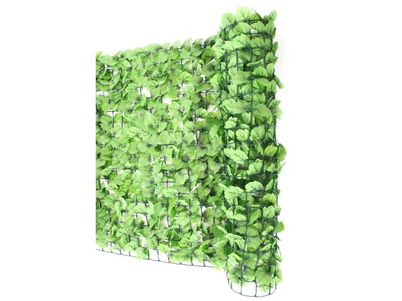 haie artificielle brise vue pour balcon feuilles 300x150cm