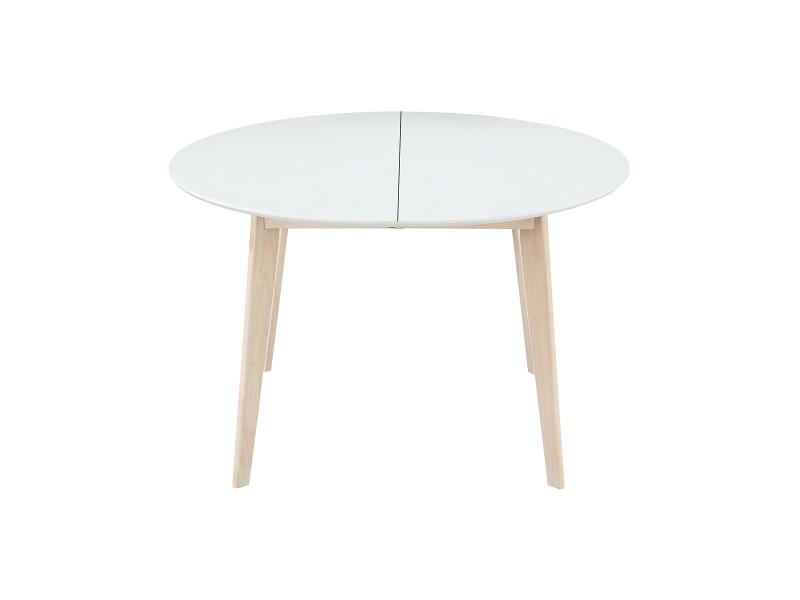 table extensible bois blanc