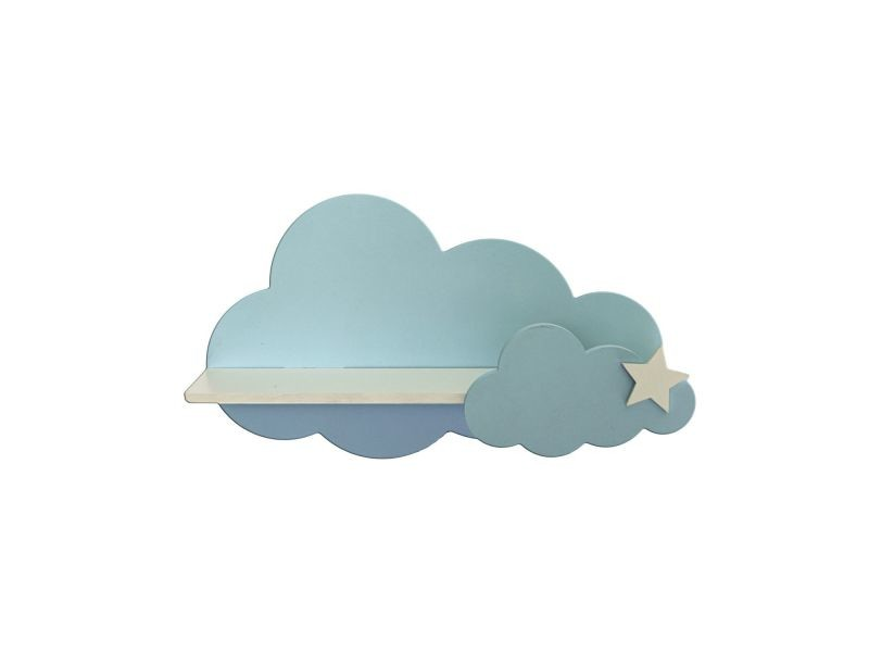 etagere murale enfant nuage pipota l 40 x h 23 cm blanc