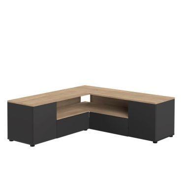 meuble hi fi meuble tv d angle 4 portes