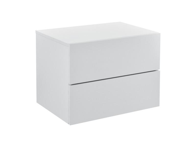 en casa armoire murale avec 2 tiroirs table de chevet suspendue table de nuit panneau de particule blanc 40 x 29 x 30 cm