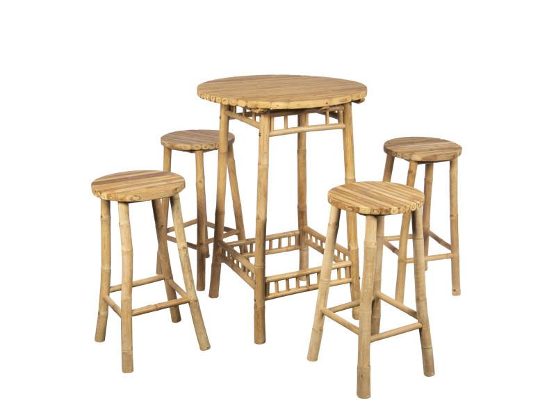 table mange debout h 110 cm avec 4 tabourets h 70 cm