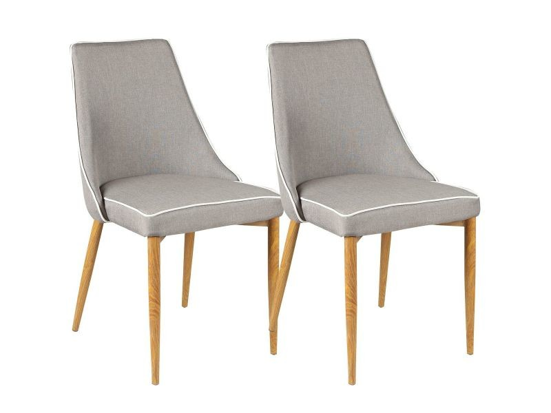 chaise taupe lot