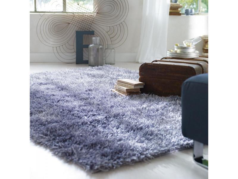 tapis design et moderne 140x200 cm rectangulaire cool glamour marron salon adapte au chauffage par le sol