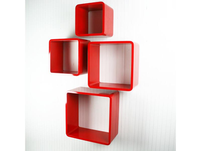 etageres cube murale de 4 pieces