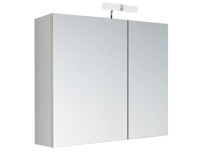armoire de toilette avec led kleo 2 portes 60 x 60 cm vente de allibert conforama