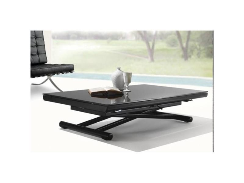 table basse verre relevable