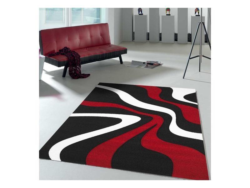 tapis design et moderne 120x170 cm rectangulaire nodage vert salon adapte au chauffage par le sol