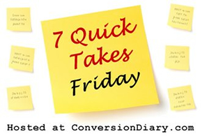 7 quick takes sm1 7 Quick Takes about back to school, veggie choppers, a great DC event, and recording radio spots under dicey circumstances