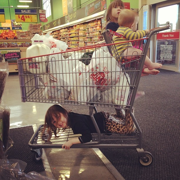 shopping cart 22 things I learned in my first ten years of parenthood