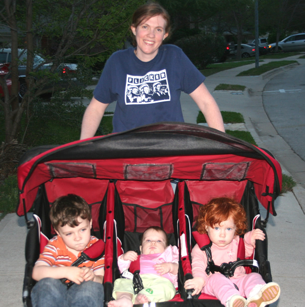 triple stroller 22 things I learned in my first ten years of parenthood