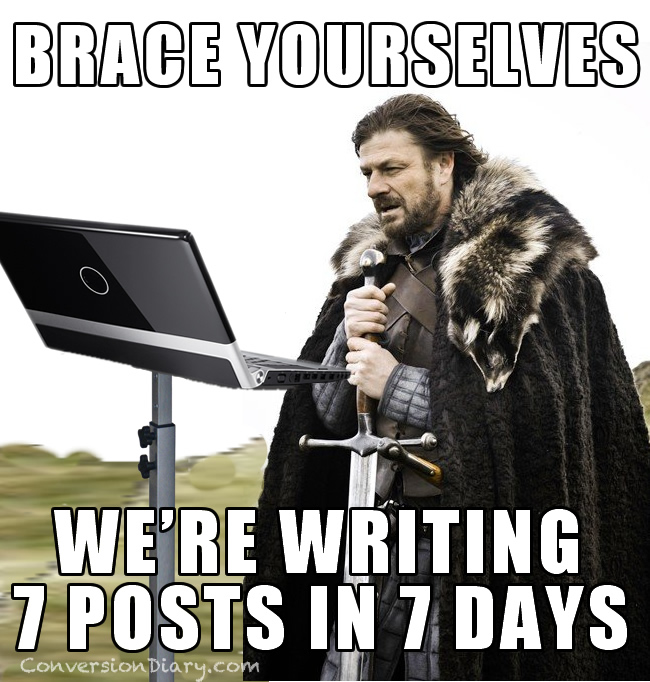 7 day blog challenge 7 posts, 7 days